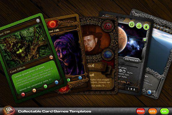 Card Templates Creative Market Collectible Card Games Card Games Card Templates