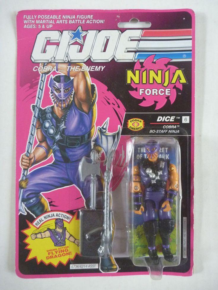 G.I. JOE Ninja Force DICE toy figure SEALED 1991 Hasbro gi ...
