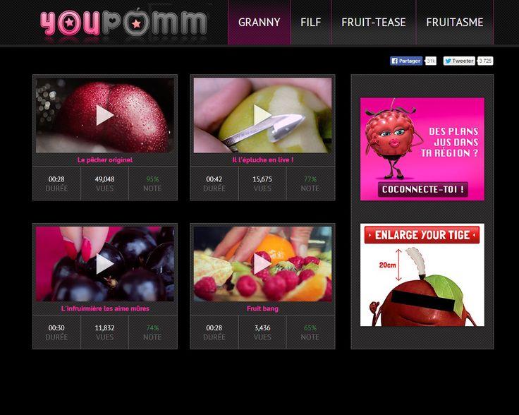 """Campagne """"Youpomm"""" : Oasis va-t-elle trop loin ?  La marque de boissons vient de lancer une campagne parodiant un célèbre site pornographique. http://www.artofteasing.fr/article/20140415-campagne-youpomm-oasis-derapage/"""