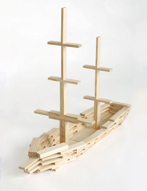 Bouwen met kapla - boot