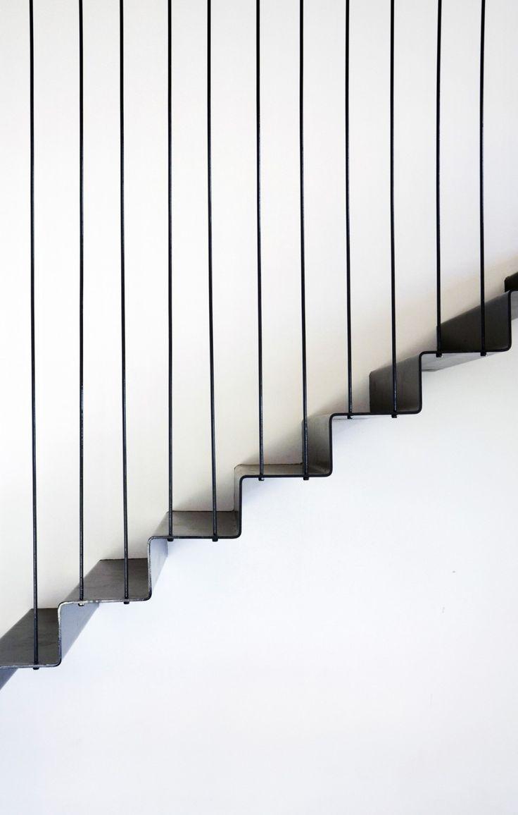 Minimal stairs at Casa La Floresta by Alventosa Morell Arquitectes