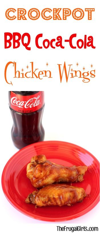 This Slow Cooker BBQ Coca Cola Wings Recipe is a recipe for party perfection! You'll be ready for football kickoff or any party!