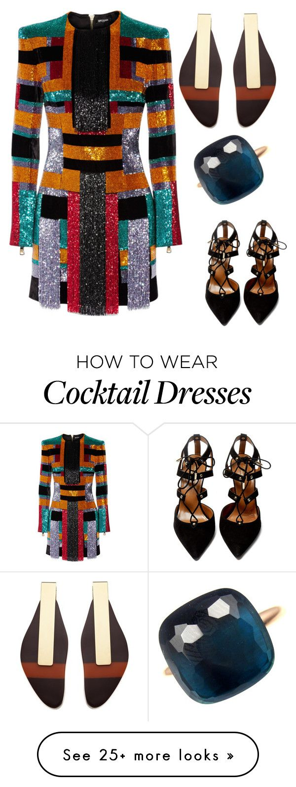 """SNL"" by tamsinhartnell on Polyvore featuring Balmain, Aquazzura, Marni and Pomellato"