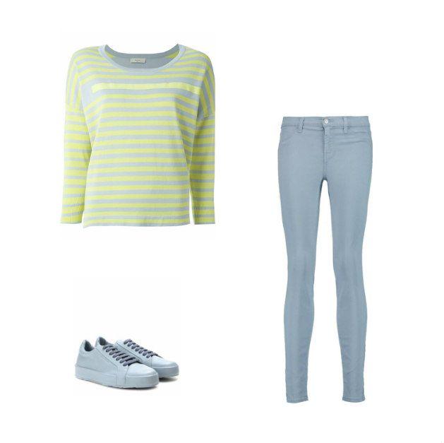 Casual Monay: Paul by Paul Smith top, J Brand jeans, Jil Sander sneakers