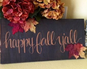 Happy Fall Y'all sign fall sign wood sign fall by HutchensHollow