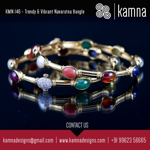 Kamna's Masterpiece.. customised recently. Trendy & Vibrant Navaratna Bangle.