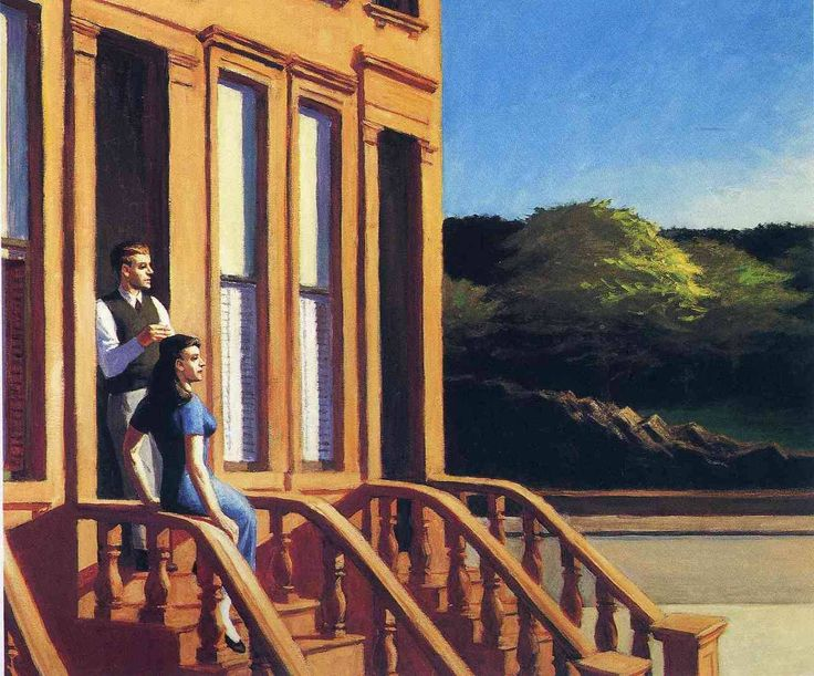 Edward Hopper — Sunlight on Brownstones, 1956, Edward HopperSize:...