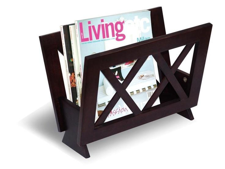 Coaster Cappuccino Transitional Magazine Rack | Modern Furniture Warehouse