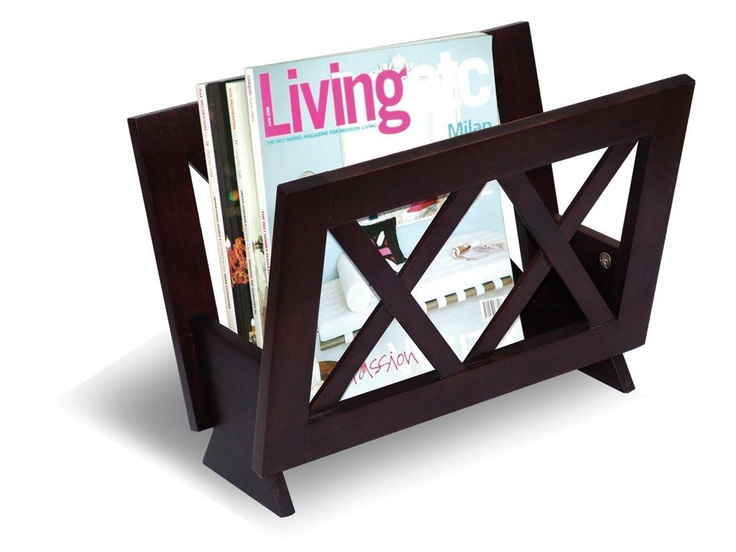 Coaster Cappuccino Transitional Magazine Rack | Modern Furniture Warehouse