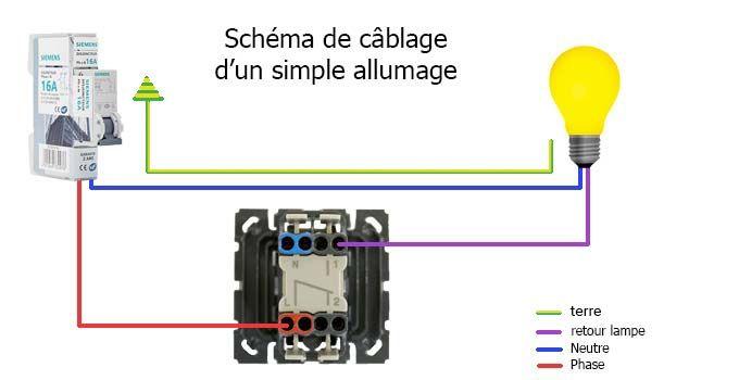 Comment Brancher Un Interrupteur Va Et Vient Ou Simple Allumage 123elec Com Interrupteur Connecte Interrupteur Simple Cablage Interrupteur