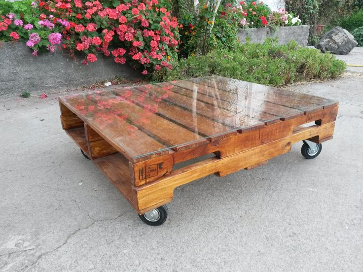 Mesa de centro de pallet. Ecopalet