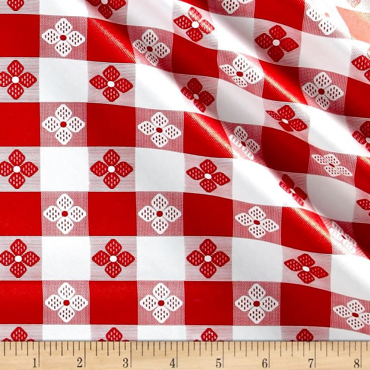 "Tavern Check Flannel Backed Vinyl Red/White Classic Tablecloth from @fabricdotcom  This water repellent, lightweight, flannel backed vinyl fabric is great! It features a high gloss vinyl face and a napped fleece backing. Pliable and sturdy, this is perfect for tablecloths, tote bags, and craft projects!  California residents click  <a href=""http://prop65.fabric.com/"">here</a> for Proposition 65 information."