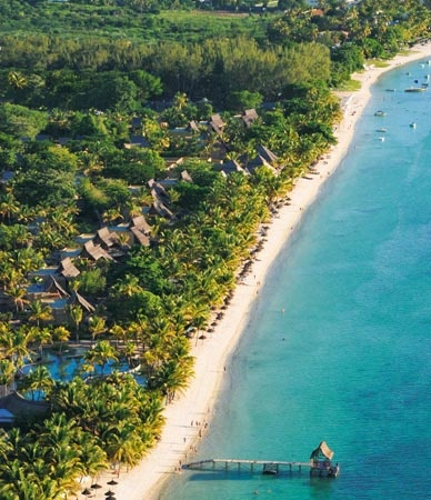 Trou aux Biches Resort & Spa from the air - Mauritius