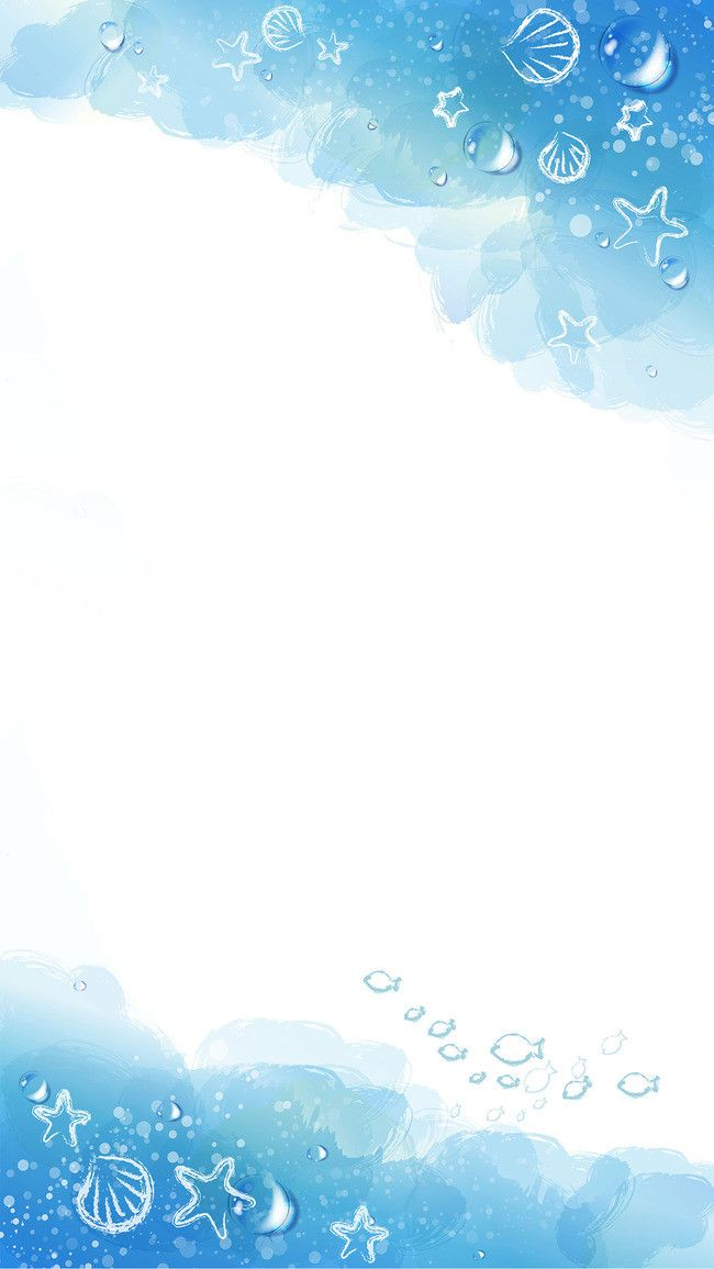 Cartoon Blue Watercolor Background Material Ocean H5 In 2020