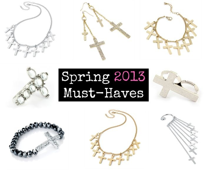 Jewelry with crosses is definitely a must-have this spring! www.westyle.fi