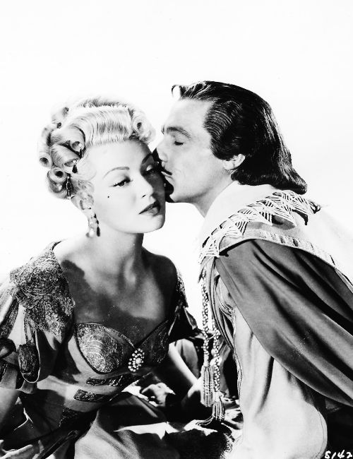 Lana Turner and Gene Kelly for The Three Musketeers (1948)