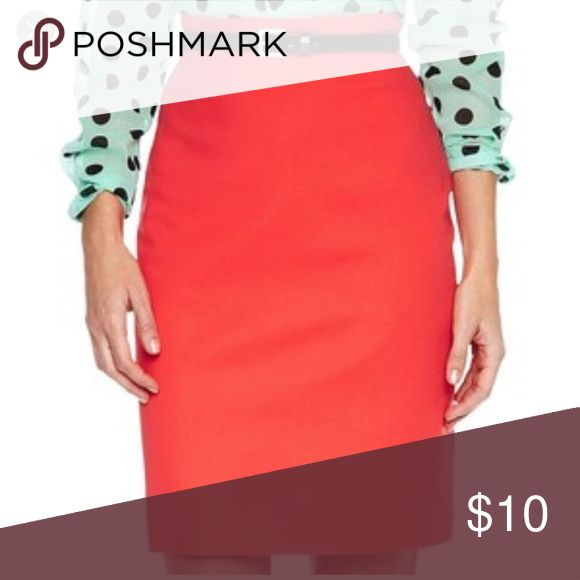 "Worthington Coral Pencil Skirt high waisted Great condition. Full lining and a relaxed fit make this high-waist pencil skirt especially desk-friendly. back zipper closure 22½"" long cotton/spandex. Only worn a few times. Belt not included but there are loops in tact. Last photo is the original add Worthington Skirts Midi"