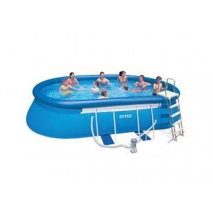 Kit piscine autoportante INTEX Ellipse 5.49 x 3.05 x 1.07 M