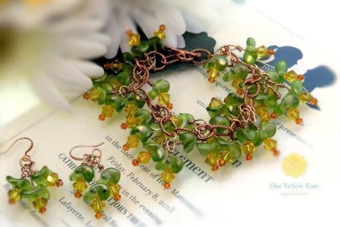 Garden of Lilies - Jewelry creation by Lorraine