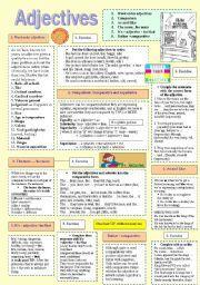 Английский лист: прилагательные для продвинутых студентов