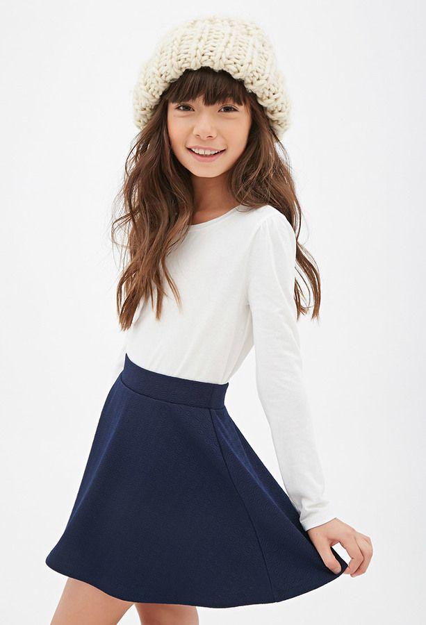 Forever 21 girls Geo-Patterned Skater Skirt (Kids) on shopstyle.com I love the skirt and shirt