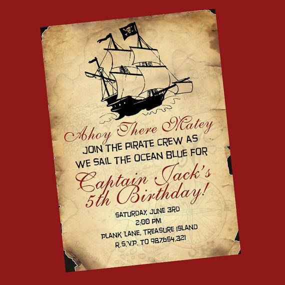 Pirate party invite wording