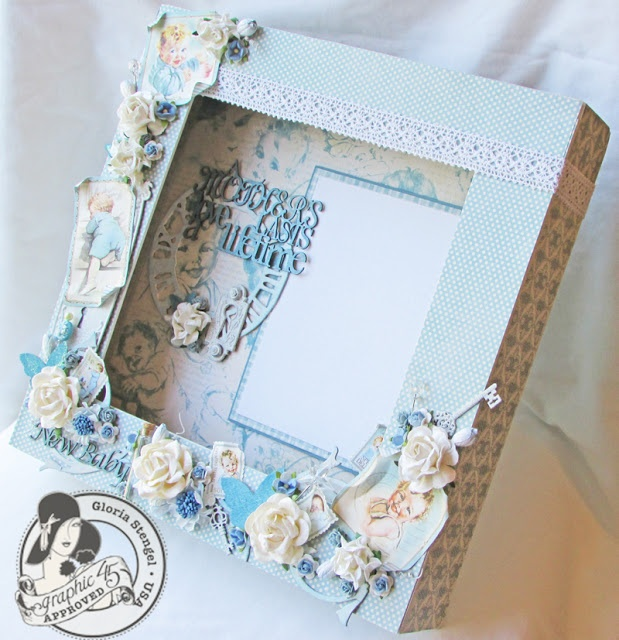 Gorgeous baby keepsake box by Gloria Stengel - Scraps of Life: Little Darlings Altered Box