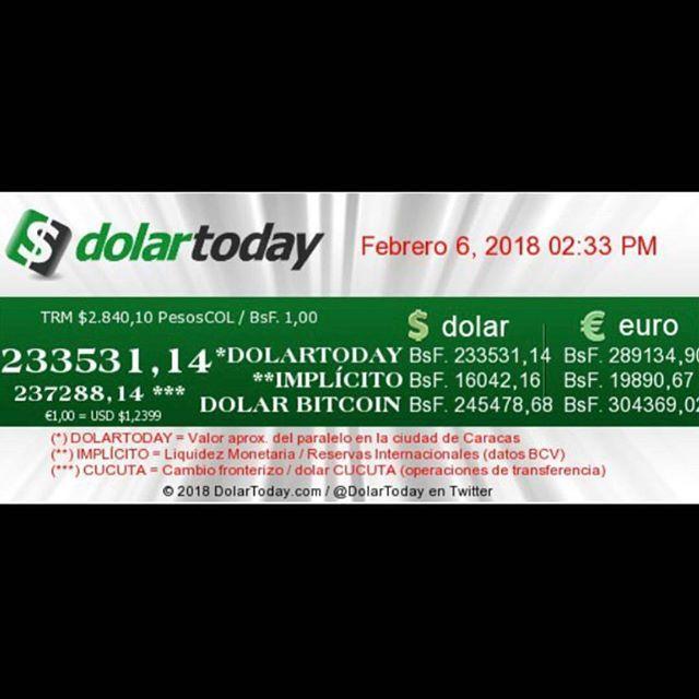 #Repost @Regranned from @dolartoday -  Así se cotiza el #dolarparalelo el día de hoy  06 de Febrero  a esta hora.     DolarToday se limita a publicar el valor del dólar paralelo en Venezuela y se basa en las operaciones cambiarias realizadas en las mesas de dinero de Caracas y el mercado de Cúcuta (tasa de transferencia) los cuales están regidos por el libre mercado es decir oferta y demanda.  La enorme fluctuación del precio del dólar paralelo es generada por los controles cambiarios la…