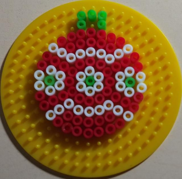 Christmas bauble perler beads