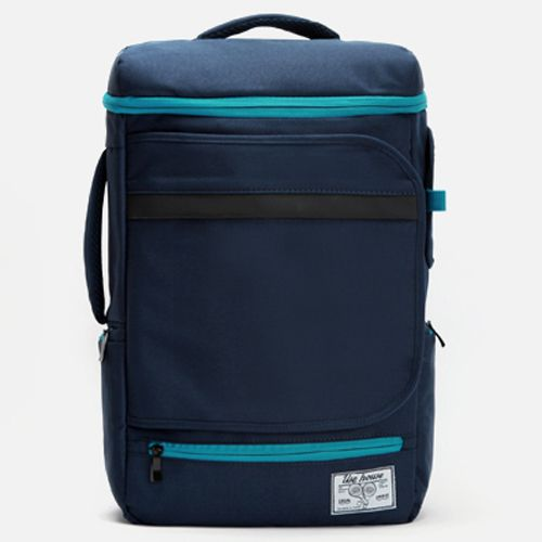 Made in Korea Stylish Laptop Bags for Men - Black Backpack ,Front zip and cover pockets , Side 2 zip pockets , Laptop compartment and Pocket for iPad