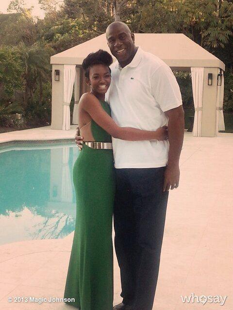 Magic Johnson and his daughter