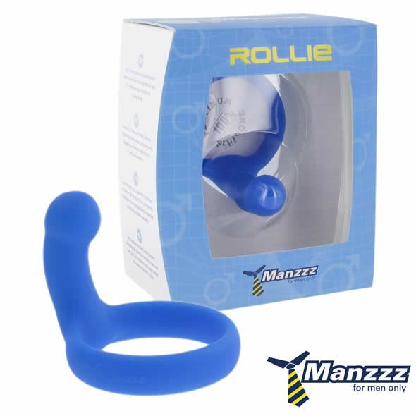 ManzzzToys - Rollie Black on kokonaan uudenlainen penisrengas, jossa on kiinteä nyppylällä varustettu jatko, joka hieroo kiihoittavasti kivesten takana olevaa aluetta. Tämä sinun täytyy kokea, Rollie tuo seksiin uudenlaista nautintoa.Toki Rollien voi kiinnittää penikseen varsiosa eteenpäinkin, jol