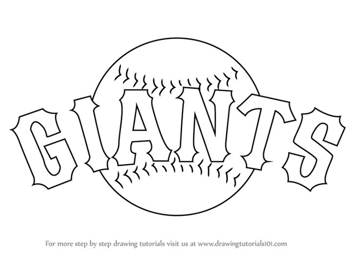 Sf Giants Logo Coloring Pages Sf Giants Logo San Francisco Giants Logo Baseball Coloring Pages