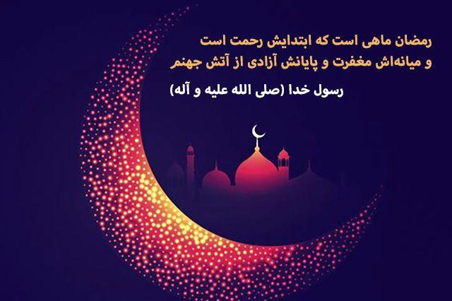 هو شهر اوله رحمة و اوسطه مغفرة و اخره عتق من النار Ramadan Quotes Poster
