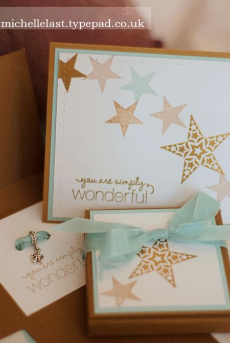 www.michellelast.co.uk card for my rising stars using Simply stars from Stampin' Up!