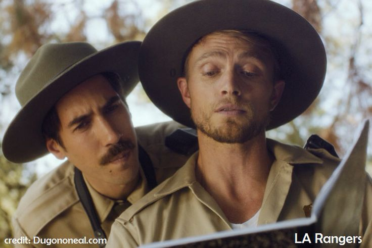 Wilson Bethel with Dugan O'Neal in L.A. Rangers (2014)