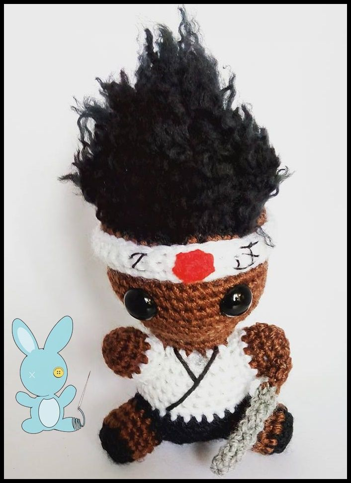 #Afrosamurai #afro #samurai #amigurumi