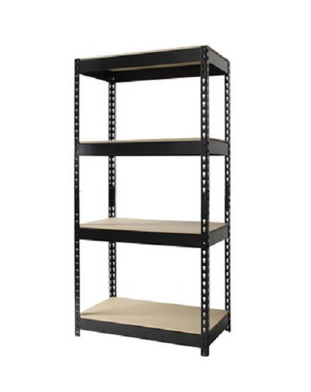 heavy duty riveted storage shelves steel garage shelving unit 4 tier adj racks ironhorse