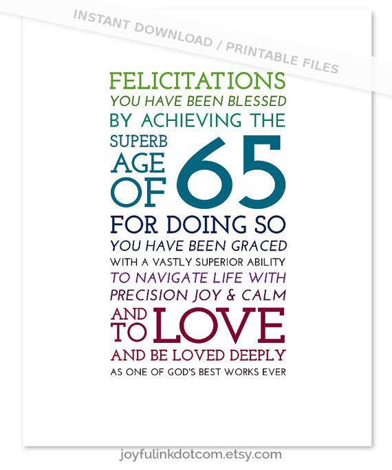 65th birthday gift men  for friend  christian women