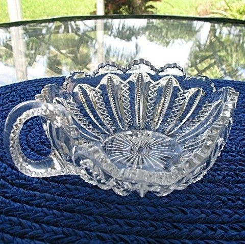Triangle Bowl with Handle Duncan Miller Mardi Gras 1894-1920
