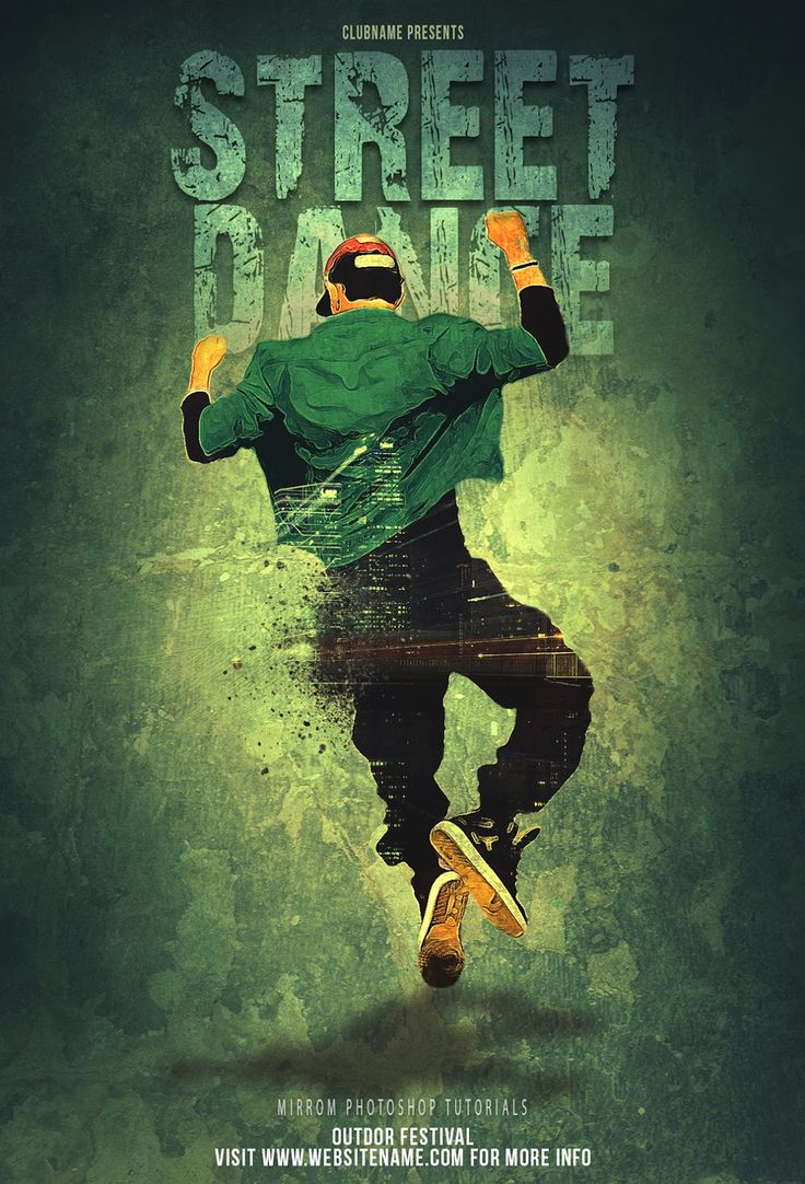 Poster design photoshop - Today S Tutorial I Will Show How To Create A Street Dance Festival Poster With Photoshop