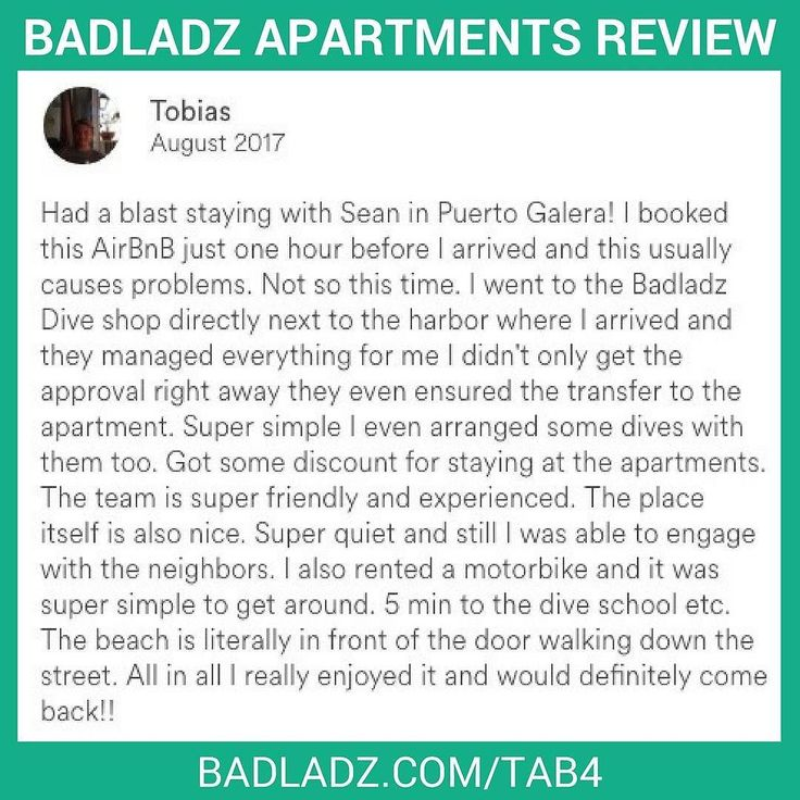 14 best badladz apartments images on pinterest apartments for rent cool guest shared his experience with our badladzapartments and scubadiving here at puertogalera fandeluxe Images