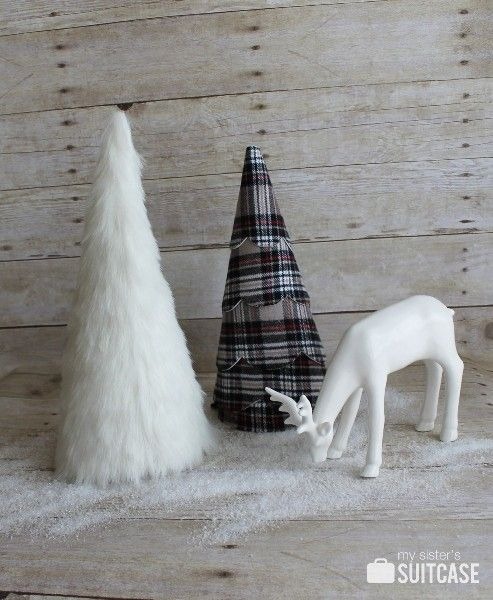 Learn how to make a Faux Fur Tree - a modern way to update your holiday decor. Fauz Fur Trees will look great on a mantel, a sideboard or shelf this holiday season.