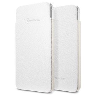 SPIGEN SGP iPhone 5 Leather Pouch Crumena S White