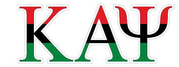 Kappa Alpha Psi African American Flag Greek Letter Sticker