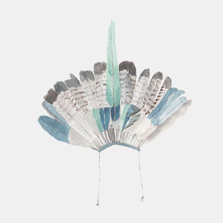 Striped Headdress by Rosie Holman. www.oakrose.co.uk