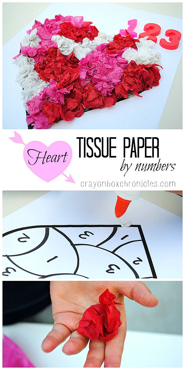 Heart Tissue Paper by Number by Crayon Box Chronicles