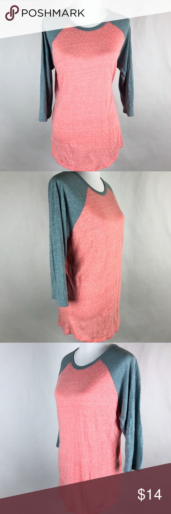 "LuLaRoe Size L Randy Shirt Pullover T Shirt Brand: lularoe  Tagged Size:Large  Total Length:30""  Sleeve Length:21""  Underarm to Underarm:21.5""  Condition: Pre Owned, in Good Shape. No Holes, Stains  U  Item comes from a pet free/smoke free clean environment  please contact me for any additional questions  I offer combined shipping LuLaRoe Tops Blouses"