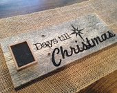 Days till Christmas Countdown Rustic Sign