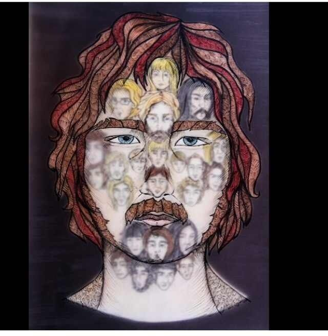 """This is my illutration to the book """"The minds of Billy Milligan"""" by Daniel Keyes"""